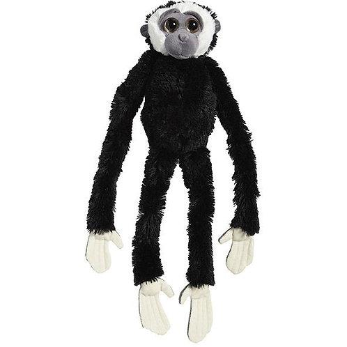 Peluche Gibbon noir à mains blanches 60 cm