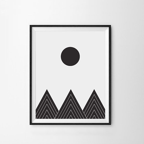 Black Triangles Scandinavian Art Print