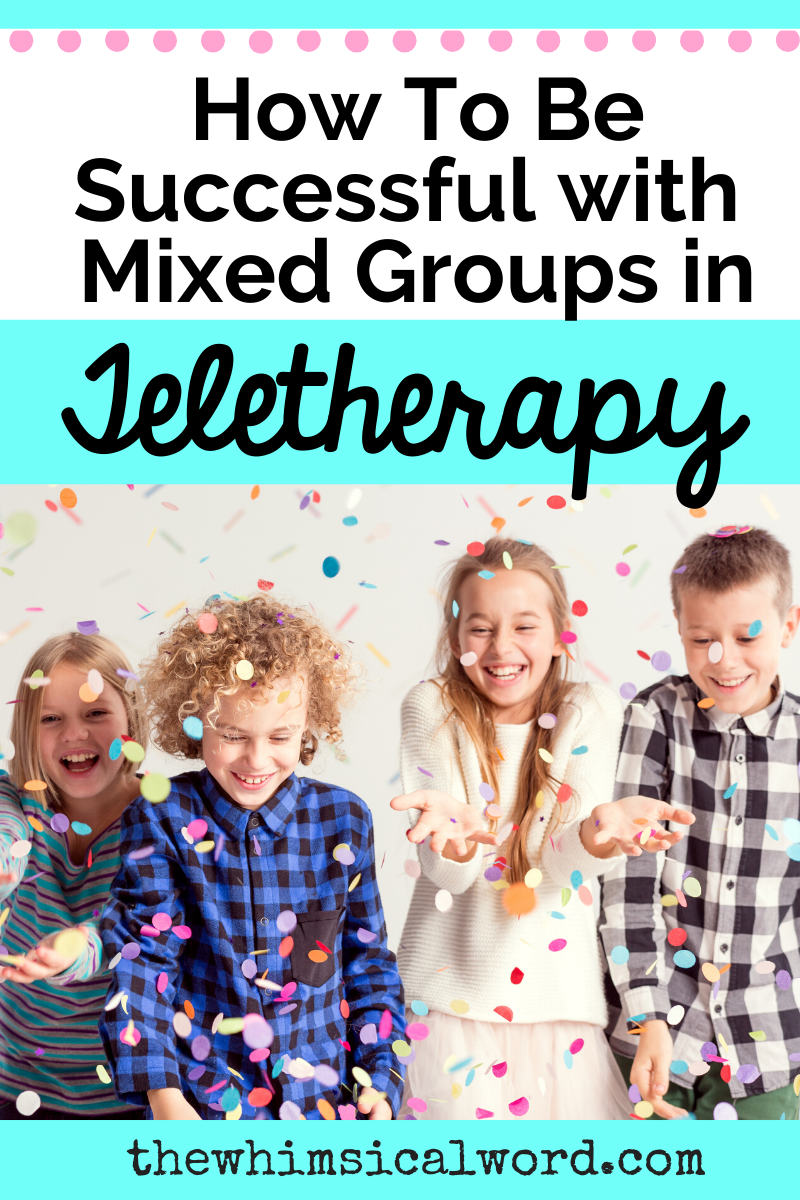 Mixed group speech therapy