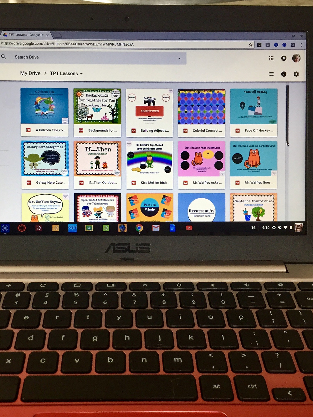Chrome Book Speech Therapy