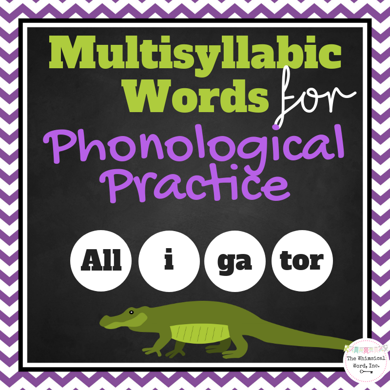 MultiSyllabic words for Phono