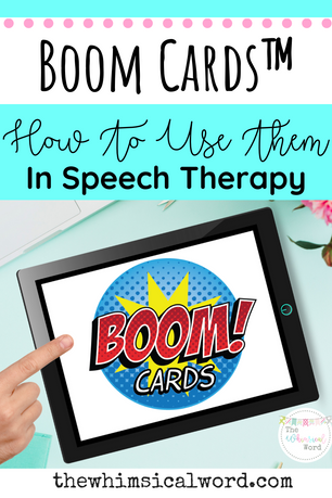 How To Use BOOM Cards™ in Speech Therapy