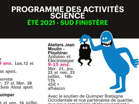 Programme des activités science - été 2021 - Sud Finistère
