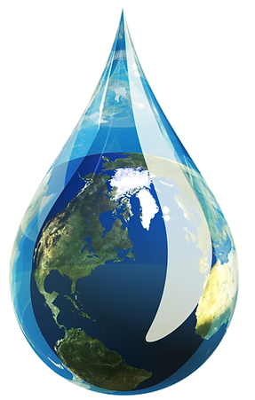 water, earth, water drop