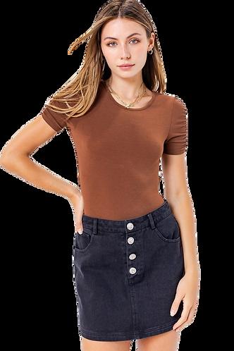 Brown Short Sleeve Bodysuit