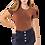 Thumbnail: Brown Short Sleeve Bodysuit