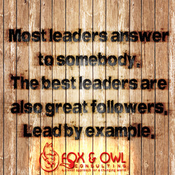 Fox & Owl - Leadership Rescue Lead by Example Graphic