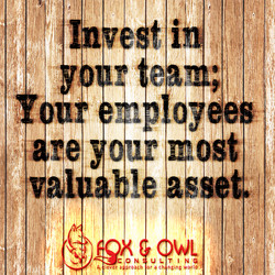 Fox & Owl - Leadership Rescue Invest in Your Team Graphic