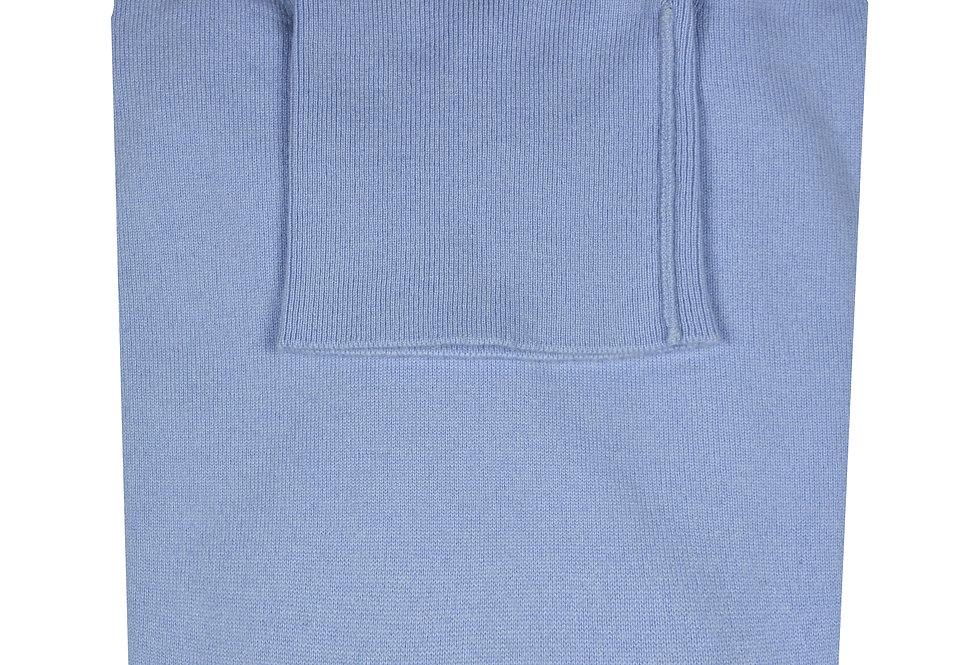 Pullover collo alto rasato puro cashmere