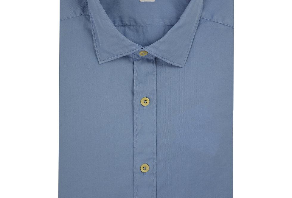 Camicia puro cotone lavorazione Twill Washed