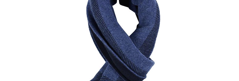 Sciarpa reversibile puro cashmere doppio filo