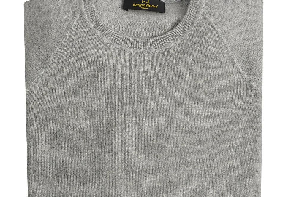 Pullover taglio felpa 100% cashmere