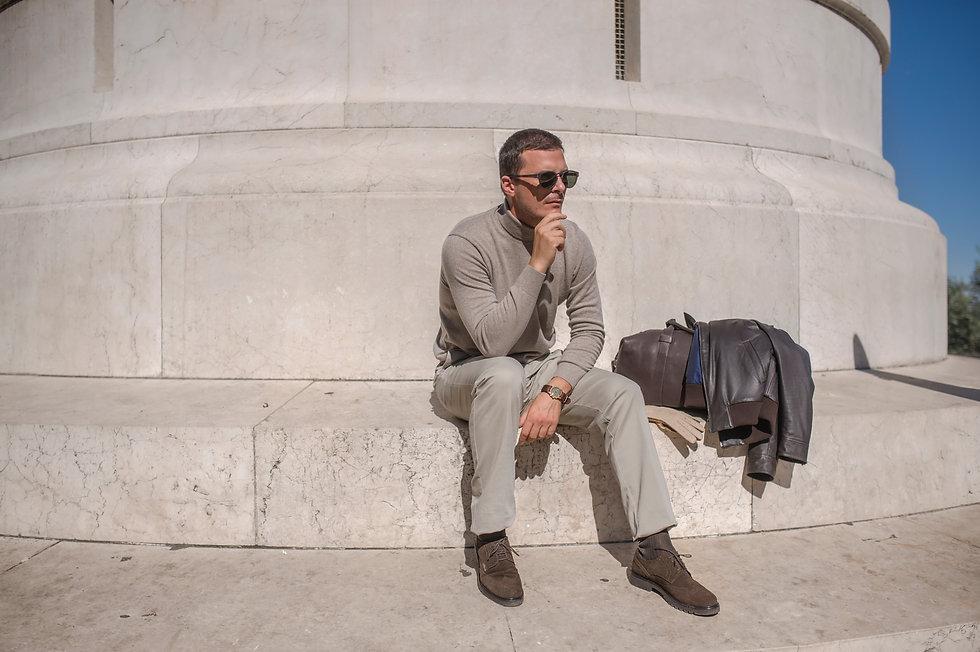 Cashmer ultra-light abbigliamento uomo caldo di lusso Sergo Nesci