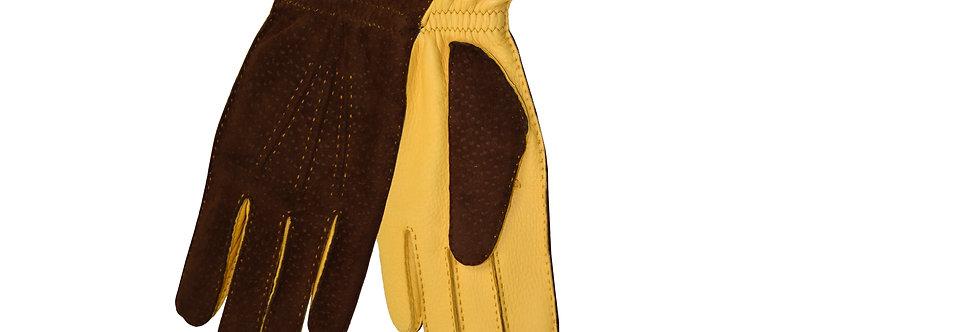 Guanti in pelle di carpincho/camoscio interno puro cashmere