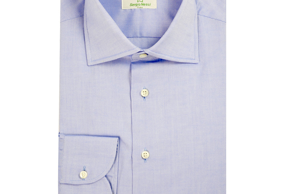 Camicia puro cotone tessuto Oxford Pin Point