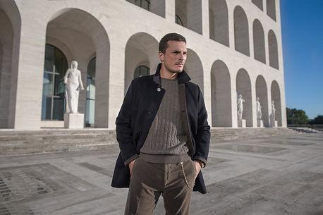 stile italiano collezioneuomo Sergio NEsi cardigan puro cashmee
