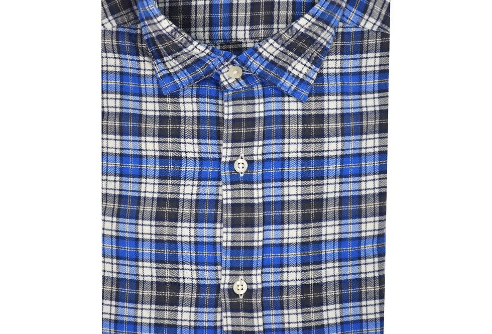 Camicia pura flanella di cotone