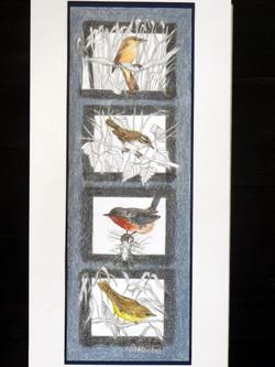 4 pássaros pequenos