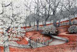 Paisagem XI - Parque em sépia
