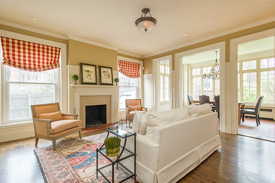 Georgian colonial staged for real estate market in Brookline, MA