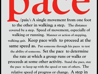 Proper Pacing in Six Steps