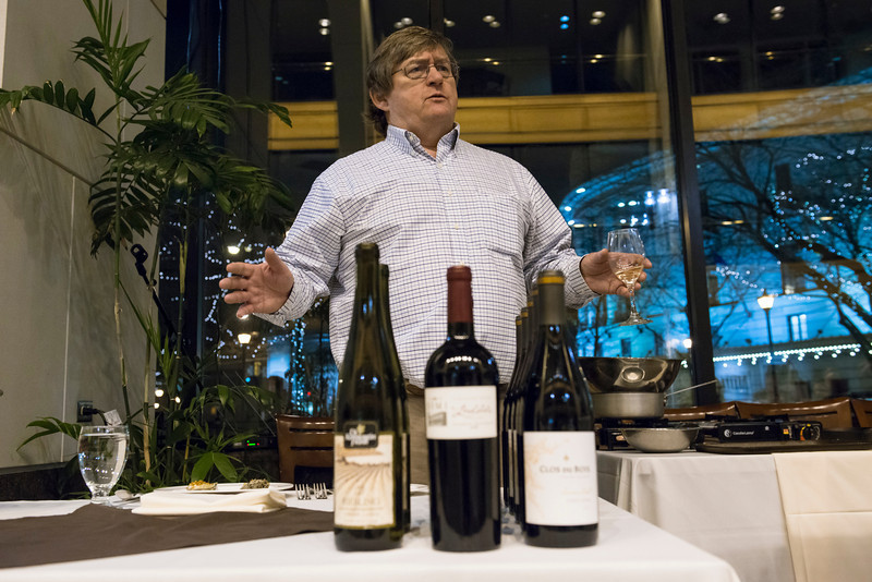 Dr. Timothy O'Connor with the Wines of the Evening