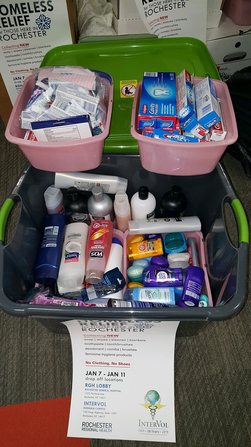 Homeless Relief Donations