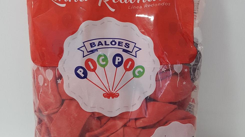 """Balão liso redondo vermelho 10"""""""