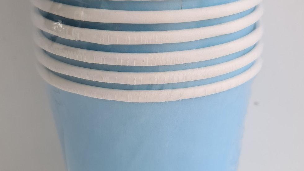 Copo de papel azul claro