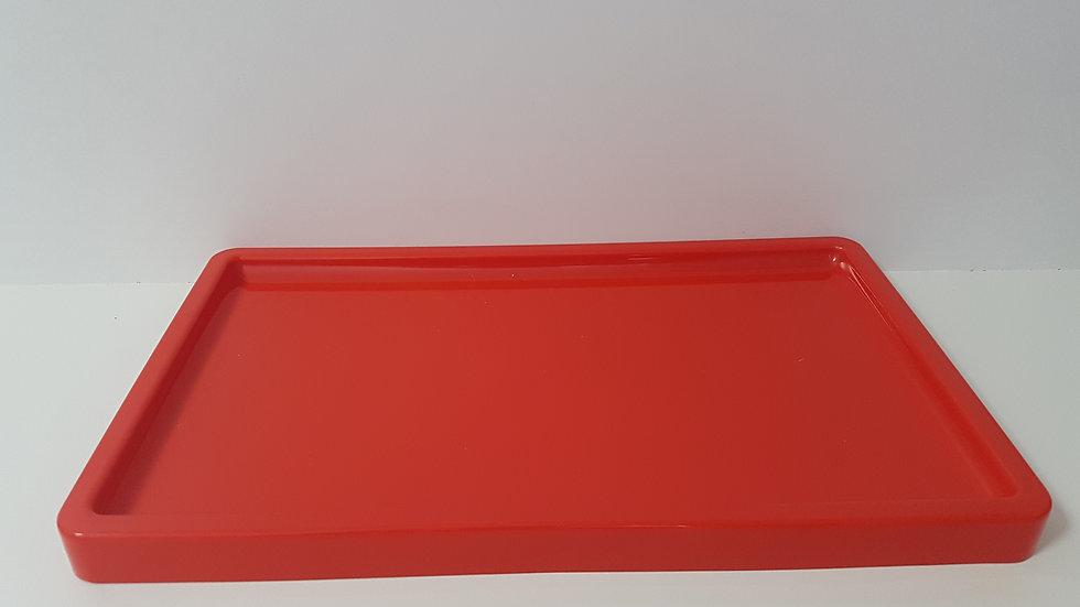 Bandeja retangular Só Boleiras vermelho