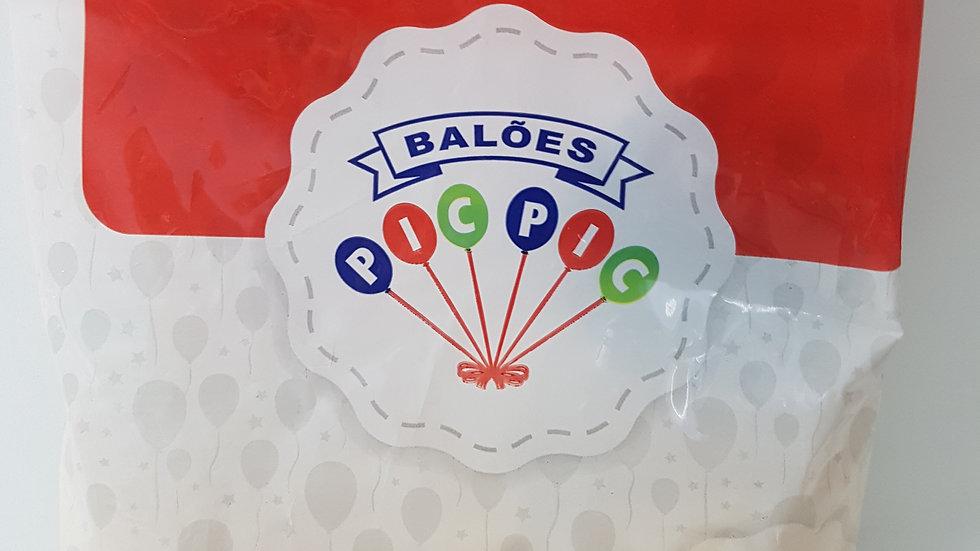 "Balão liso redondo clear 5"""