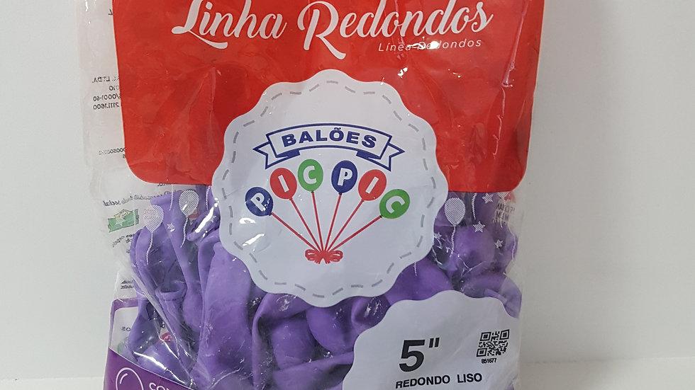 """Balão liso redondo lilás 5"""""""