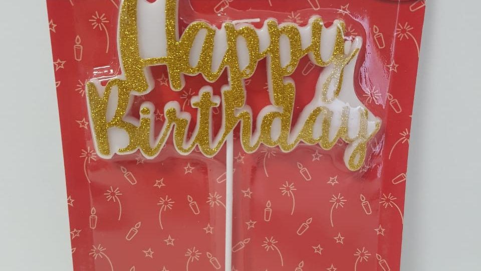 VELA HAPPY BIRTHDAY DOURADO G C/1 UN