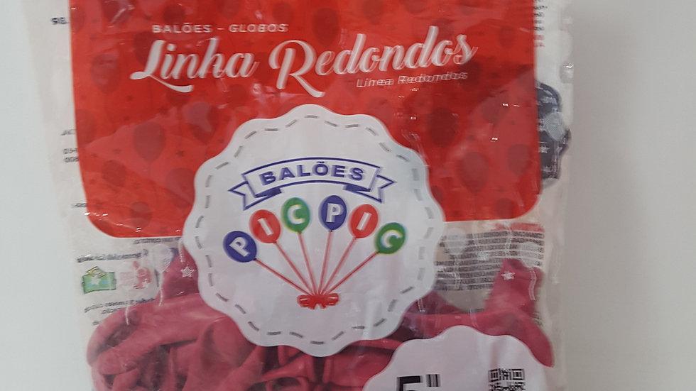 "Balão liso redondo pink 5"""