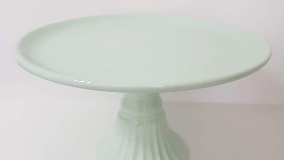 Boleira M Cerâmica com Pé Imperial Verde Claro