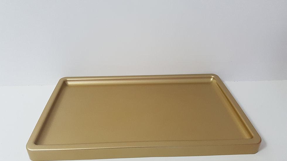 Bandeja retangular Só Boleiras dourado