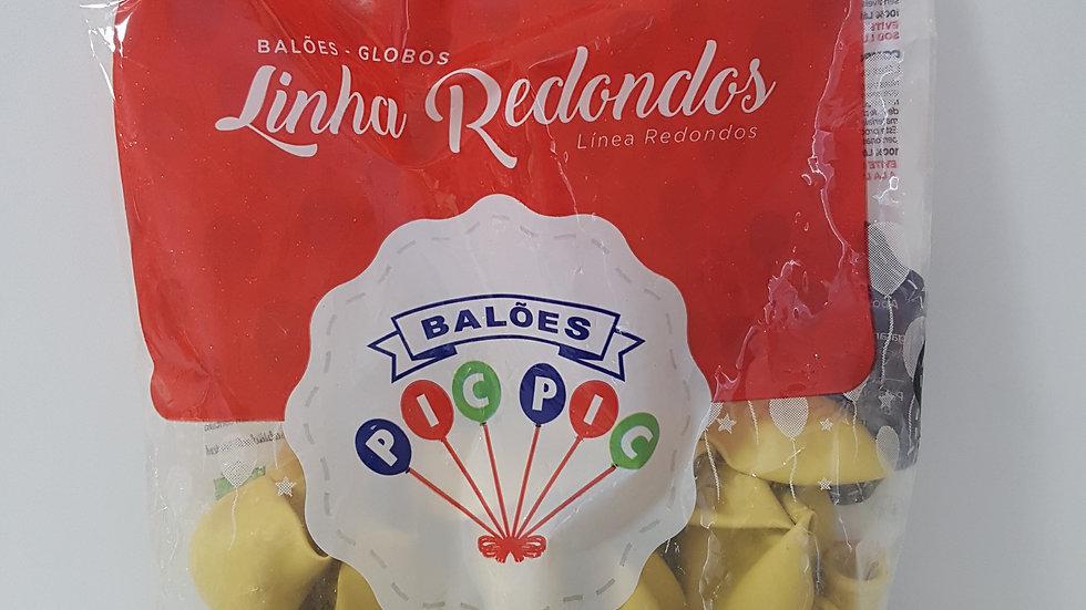 """Balão liso redondo marfim 8"""""""