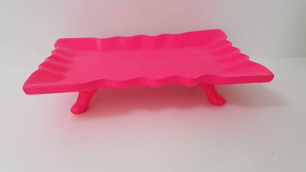 Suporte Retangular Paris Pink Neon