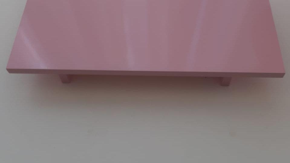 Bandeja laqueada rosa bebê