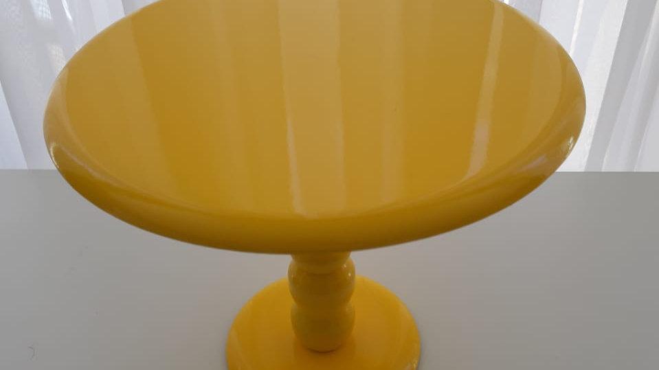 Boleira laqueada amarelo M
