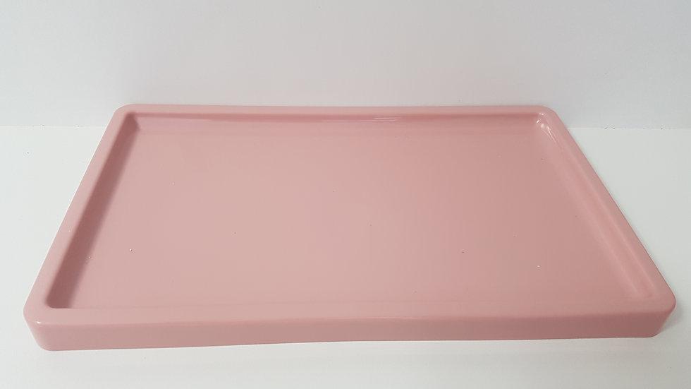 Bandeja retangular Só Boleiras rose