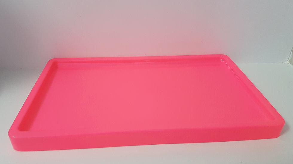 Bandeja retangular Só Boleiras rosa