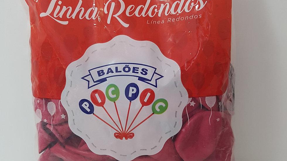"Balão liso redondo pink 10"""