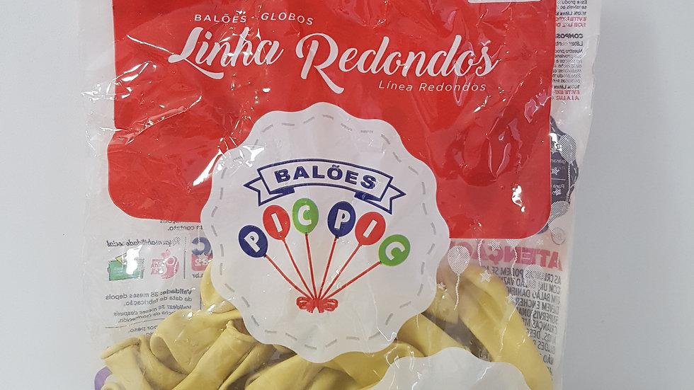 """Balão liso redondo marfim 5"""""""