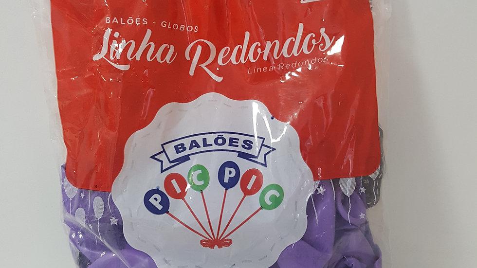 """Balão liso redondo lilás 10"""""""