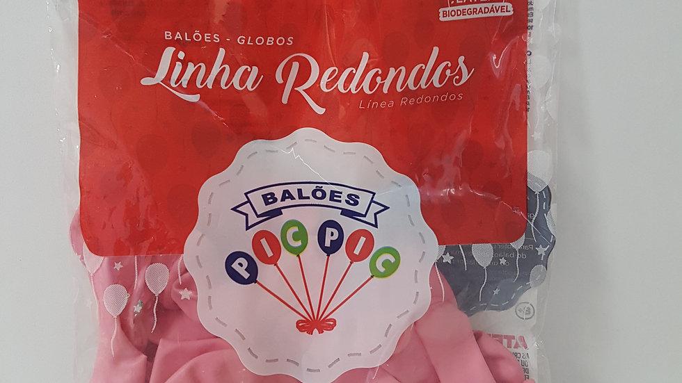 """Balão liso redondo rosa claro 8"""""""