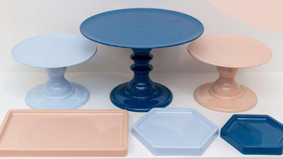 Kit Comemore 7 Azul Candy, Azul Petroleo e Nude
