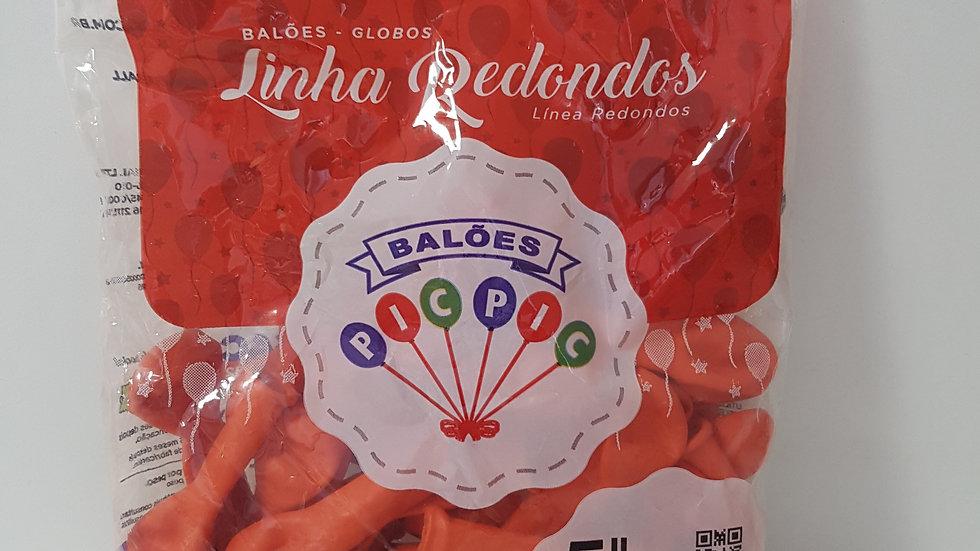 """Balão liso redondo coral 5"""""""