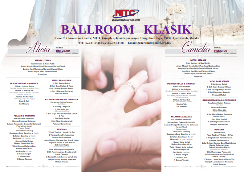 MITC Grand Ballroom Wedding Packages