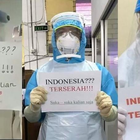 'Terserah Indonesia, Kami Capek', Frontliners Indonesia Luah Rasa Kecewa